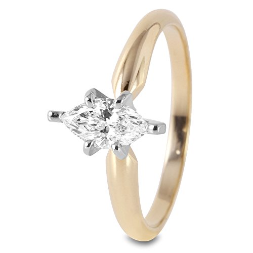 Natürlicher Diamant 0,5Karat 14ct Gelbgold Solitaire Engagement Ring für Frauen Solitaire Engagement Ring 14k