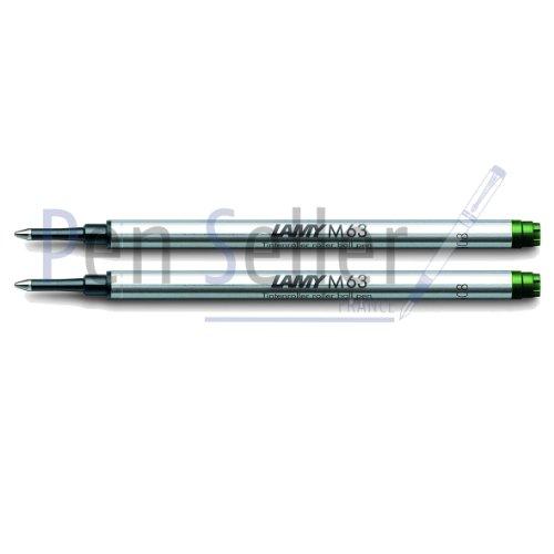 Lamy: Rollerball-Großraummine M63: Farbe: grün, Strichbreite: M, 2er-Set.