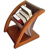 Revistero, estante para periódicos, sala de estar, estante de almacenamiento para revistas de madera, estante para periódico de piso simple, estudio de dormitorio, estante para almacenamiento de datos
