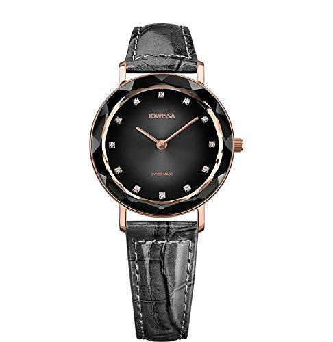 Jowissa Aura Swiss J5.647.M - Reloj de Pulsera para Mujer, Color Gris, Negro y Plateado