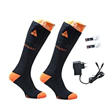 Alpenheat Fire Beheizte Socken, Schwarz/Orange, 42-45
