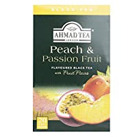 Ahmad Tea Peach And Passion Fruit Flavoured Black Tea With Fruit Pieces, 20 Bags