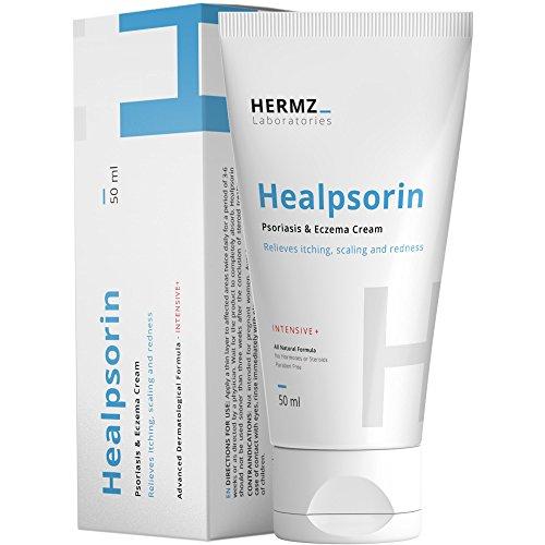 Healpsorin-Creme (50 ml) für Psoriasis, Ekzem, Rosacea und Dermatitis - Tief Eindringender Feuchtigkeitsspender - Heilt Trockene - Juckende und Rissige Haut
