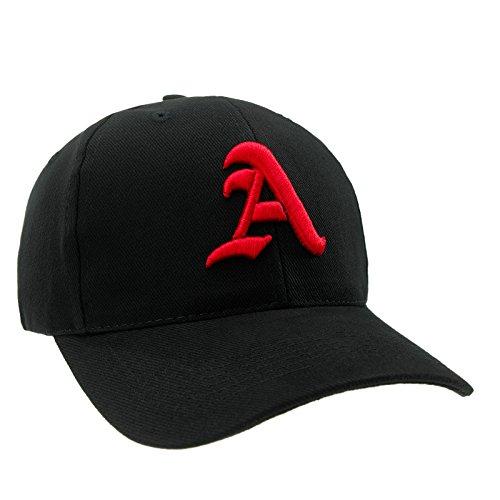4sold 100% Cotton Unisex Damen Herren Baseball Cap Caps Gothic Letter S Hüte Mützen Snap Back Hat Hats (A black red)