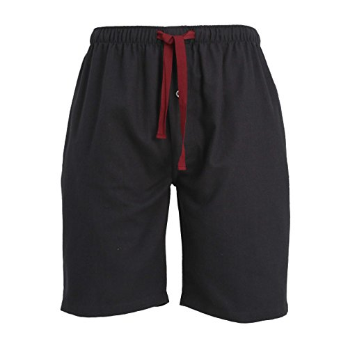 TOM TAILOR Herren Bermuda, kurze Schlaf-Hose, Pyjamahose, Shorty-Hose - Baumwolle, Flanell, grau, uni, mit Eingri 52 (Herren Schlaf-hose Flanell)