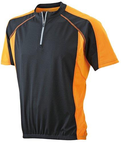 Men's Bike-T/James & Nicholson (JN 420) S M L XL XXL 3XL, black/orange, S