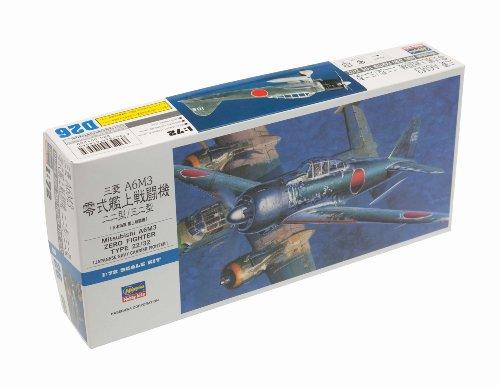 Imagen principal de Hasegawa D26 - Maqueta de Mitsubishi A6M3 Zero Fighter tipo 22/32 [importado de Alemania]