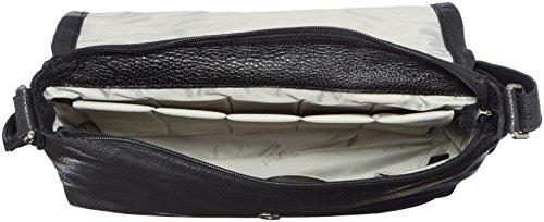 Leonhard Heyden, Jost Adult Vika Shoulder Bag, Sac bandoulière mixte adulte - Noir-V.6, Small Street Blue