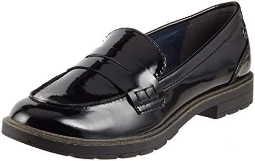 Tamaris Damen 24600-21 Slipper Schwarz (Black Patent 18) 40 EU