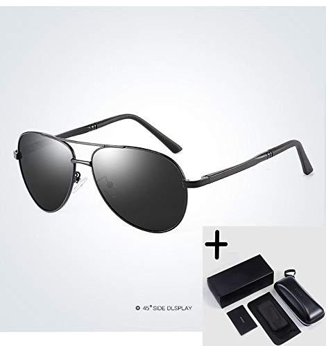 LKVNHP Hochwertige Markenmode Herren Uv400 Polarisierte Sonnenbrille Herren Driving Shield Eyewear Sonnenbrille Oculos GafasSchwarz-Schwarz