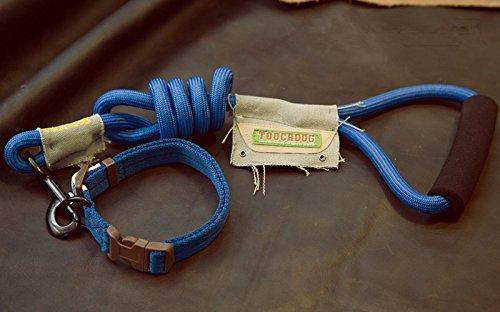 Touchdog Mountain Seil/Halsband/Leine Set, klein, blau