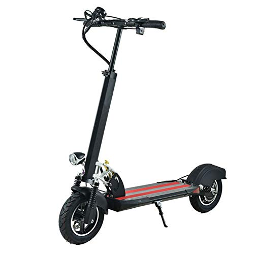 """HOPELJ 10"""" Elektro Scooter,Faltbar & Höheneinstellbar Elektroroller Mit USB-Ladeschnittstelle,36V 350W Motor Höchstgeschwindigkeit Bis 45 Km/H,Schwarz,Withoutseat,12AH"""