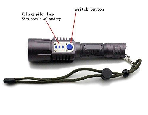 2000 LUMENES CARGADOR USB DEL CREE XM-L2 LED LINTERNA ANTORCHA 5 MODS ENERGIA MOVIL 18650 BATERIA DE LINTERNA INTELIGENTE (INCLUYE BATERIA Y CARGADOR)