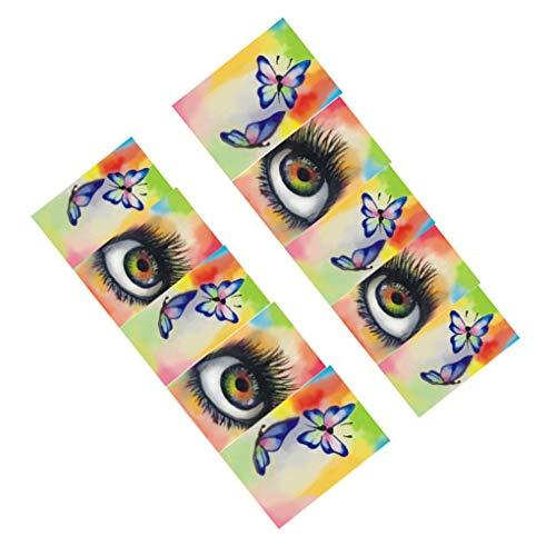 Lidahaotin Wasserzeichen Nail Sticker Tatoos Halloween Bunte Augen-Schädel-Element Nail Wraps DIY Maniküre-Aufkleber # 2