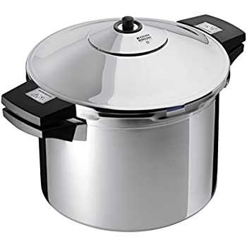 Kuhn Rikon Duromatic Inox Stainless Steel Pressure Cooker with Side Grips, 4 Litre / 24 cm