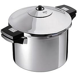KUHN RIKON Duromatic, Pentola a pressione in acciaio inox, 22cm, 6,0 l, acciaio inossidabile, acciaio inossidabile