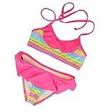 LOREEN Bikini, 2-teiliger Badeanzug für Mädchen  Gr. 5-6 Jahre 122 cm, regenbogenfarben