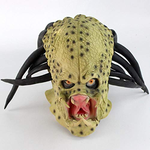 Maske Predator Erwachsene Kostüm Für - Latex Film Alien Predator Cosplay Maske Kostüm Helm Requisiten Antenne Halloween Party Horror Vollgesichtsmaske Spielzeug