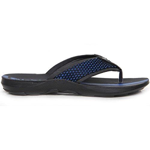 Hommes A Enfiler Filet Front À Rayures Tongs Sandales Décontractées Chaussure Été Bleu