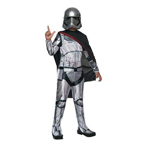 Generique - Captain Phasma-Star Wars Lizenzkostüm für Kinder Grau-Schwarz (Phasma Kostüm)