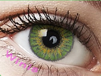 Farbige Kontaktlinsen Monatslinsen grün hellgrün jadegrün