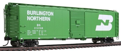 Preisvergleich Produktbild WalthersProto - 50' AAR Single-Door Boxcar - Burlington Northern #215188 - Cascade Green with Large White Logo - Ready to Run by Walthers Proto
