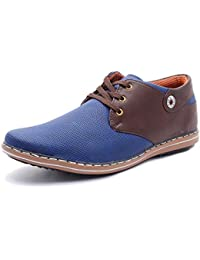 Free Feet Tan & Brown Synthetic Leather Casual Shoes For Men/Boys
