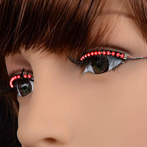Soulitem LED Wimpern Wasserdicht Interaktive Wimpern Glänzende Augenlid -