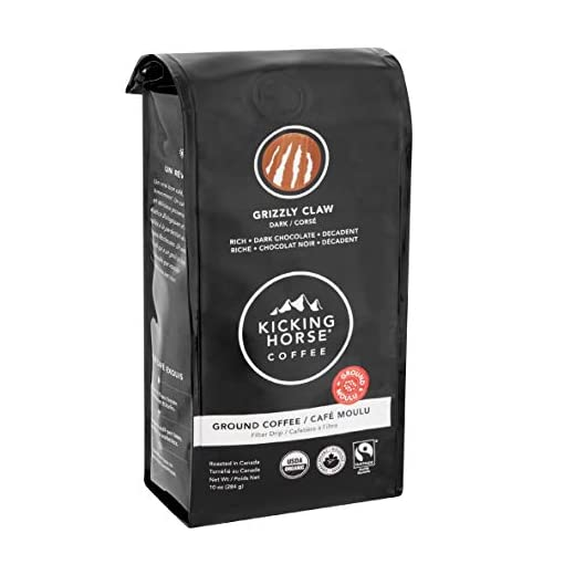 Kicking Horse Ground Coffee, Certified Organic Arabica – (Multi-Packs, Multiple Flavours) – 284 Grams (10 oz) Ground Coffee, American Imported Fairtrade Certified