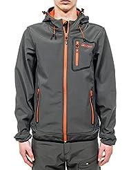 Berg Outdoor Peak - Soft shell para hombre, color gris, talla M
