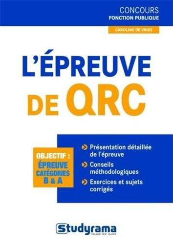 L'épreuve de QRC par Caroline De Vries