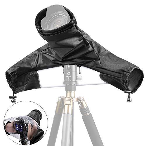 Neewer Pro Kamera Regenschutz Schild Mantel Schutzhülle Staubdicht Wasserdicht Nylon Regenschutz für große Canon, Nikon, Sony, Pentax, Sigma, Tamron und andere DSLR-Kameras (schwarz)