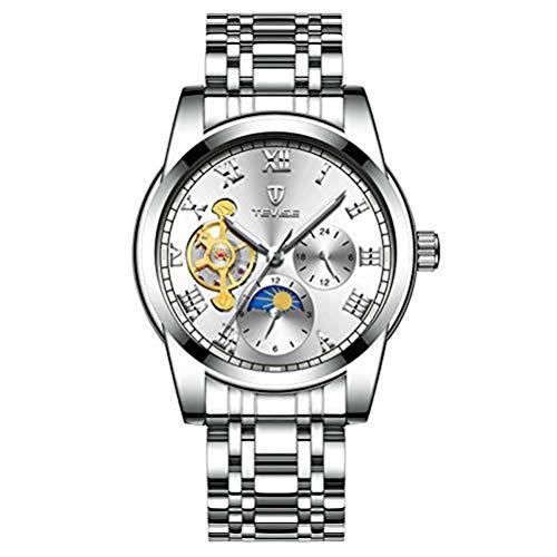 De 9005 Reloj Relojes Tevise Jiufei Hombre Hermosos Mecanico Automatico wZOPTXiku