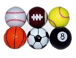 Living-Point 6 Golfbälle in Sportballoptik