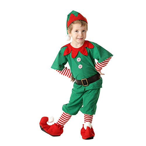 Lisli Weihnachten Kostüm Elfenkostüm Cosplay Unisex Erwachsene Kinder Baby Weihnachten Kostüm Xmas Elf Outfit Weihnachtself Fancy Dress ()