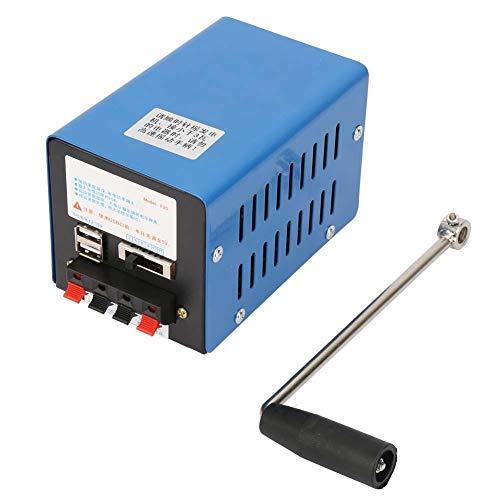 Qinlorgo Tragbarer Hochleistungs-Handkurbelgenerator , Ladegenerator USB-Notstromaggregat