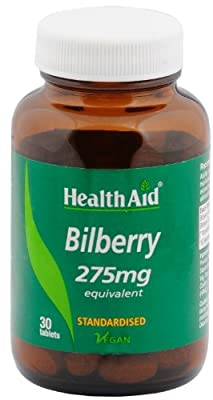 HealthAid Bilberry 275mg- 30 Vegan Tablets by HealthAid