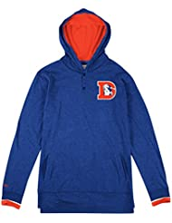 "Denver Broncos Mitchell & Ness NFL ""Seal The Win"" Long Sleeve Hooded Men's shirt Chemise"