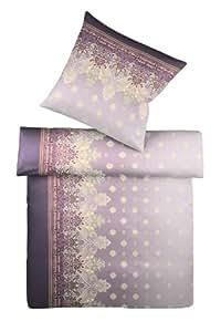 Kaeppel G-009506-65D1-V1DS Bettwäsche Scheherazade Satin 2-teilig, 135 x 200 cm Farbe: violett