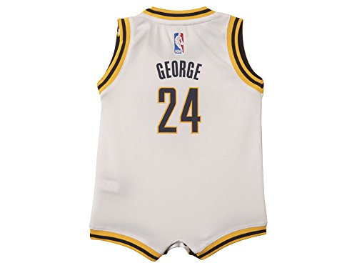 adidas Paul George Indiana Pacers #13 White NBA Infants Revolution 30 Replica Jersey, Unisex - Baby, weiß, 12 Monate