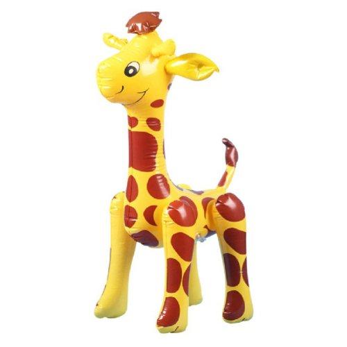 Giallo Con Il Rosso Scuro Ha Visto Gonfiabile Blow-up Giraffa Partito Giocattolo Favore