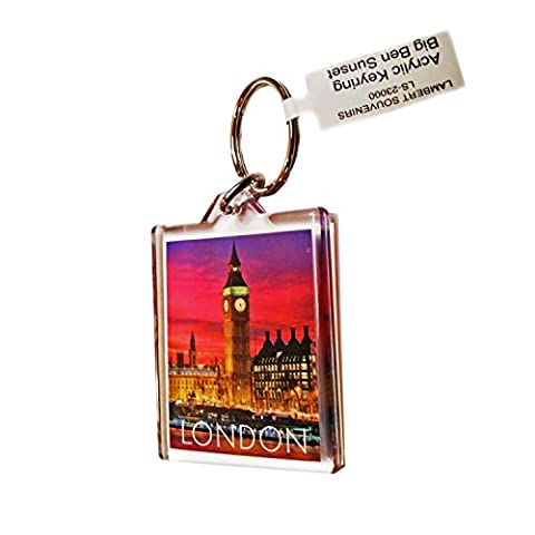 #1 Top Seller Big Ben at Sunset Acrylic UK Keyring Souvenir! Souvenir/Speicher/Memoria! Big Ben Sunset London, England British UK Collectible Keyring! A Classic, Distinctive London Souvenir! Porte-clés / Schlüsselanhänger /Portachiavi/Llavero!
