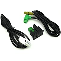 Interruptor Yihaoel + AUX Cable USB compatible con Rcd510 Rcd 510 para Vw Passat B6/