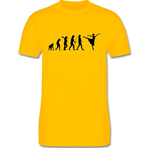 Evolution - Ballett Evolution - Herren Premium T-Shirt Gelb
