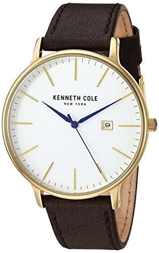 Kenneth Cole Cinturino in pelle marrone scuro marrone bianco KC15059005