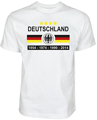 Halal-Wear WM 2018Camiseta de fútbol Fan Hirt Campeonato de Fútbol Hombre & Mujer Camiseta de WM/EM Alemania Copa Mundial de Fútbol Camiseta, Weiß, XX-Large
