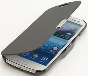 Schwarz Black Flip Cover Schutzhülle Samsung Galaxy S3 i9300 Case Etui Hülle plt24