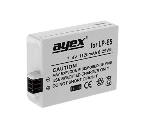 Ayex LP-E5 - Batteria agli ioni di litio per Canon EOS 450D, 500D, 1000D