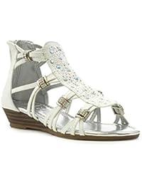 e344cde0bd1b Amazon.co.uk  Shoe Zone - Sandals   Girls  Shoes  Shoes   Bags