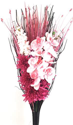 Grande hecho mano seda Artificial rosa orquídea rosa